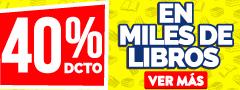 40% de Descuento - Miles de Libros